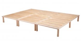 Gigapur G1 29005 Bett | Co-Sleeping | Birke Natur Schicht-Holz | Bettrahmen belastbar bis 195 kg | 270 x 200 cm (3 x 90 x 200 cm)