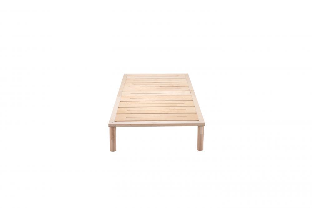 Gigapur G1 in Überlänge 220cm | Lattenrost und Bettgestell | Birke Natur Schicht-Holz | Bettrahmen blastbar bis 195 kg