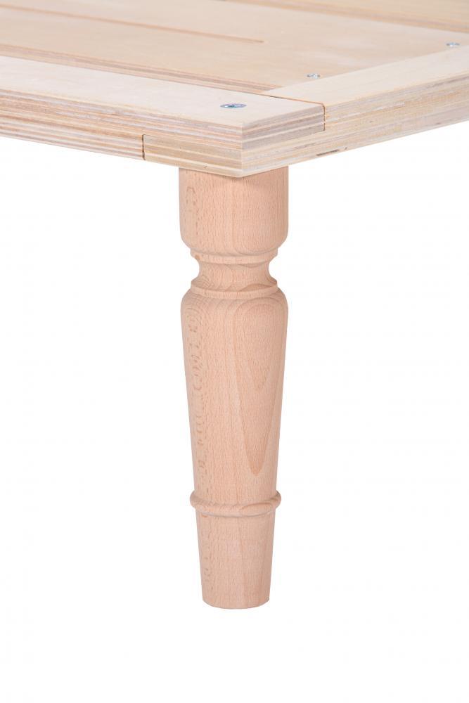 Gigapur 6-er Set 20019 Möbelfüße für Bettgestell G1   Buche massiv   Höhe 25cm   Durchmesser ca. 6cm