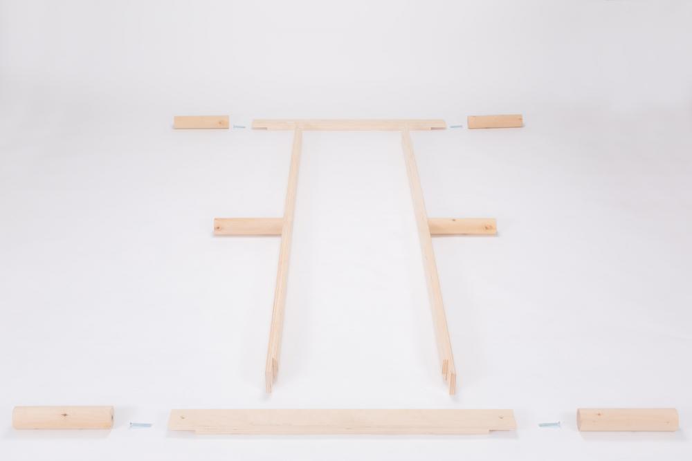Gigapur G1 Komforthöhe   Lattenrost und Bettgestell   Birke Natur Schicht-Holz   Bettrahmen belastbar bis 195 kg - 34 cm hohe Füsse